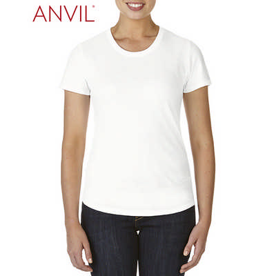 Anvil Womens Tri-Blend Tee White